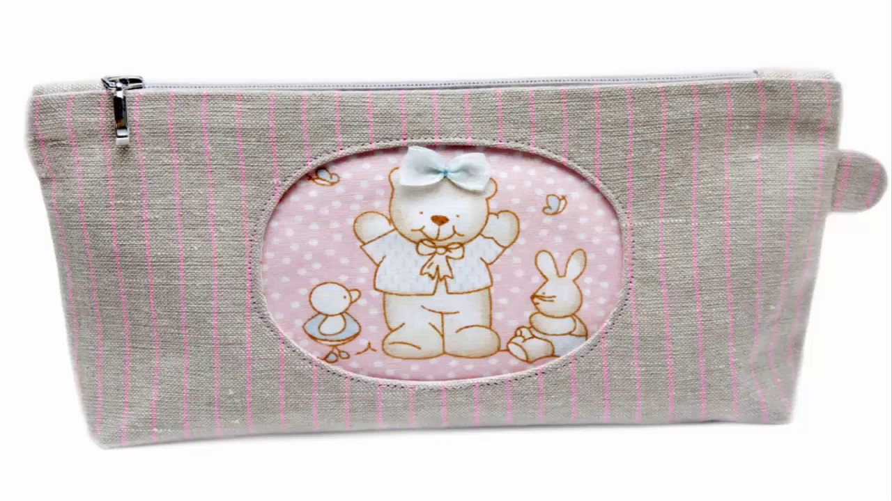 Shine sewing tutorial cosmetic bag with applique bear youtube