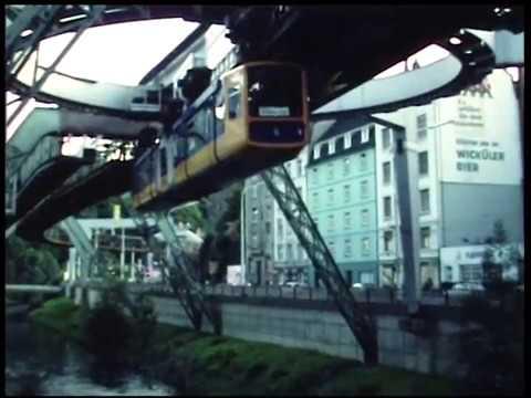 Schwebebahn Wuppertal August 1981 mit Wendeanlage am Zoo