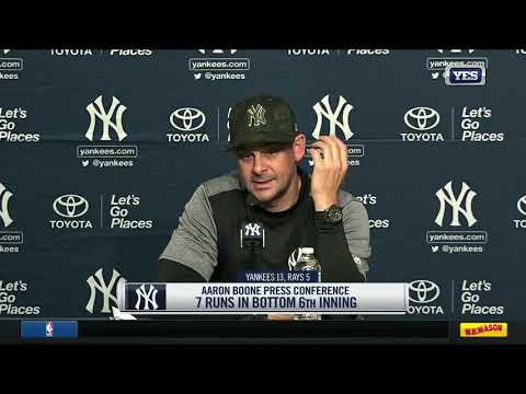 Aaron Boone on Yankees 13-5 win over Rays