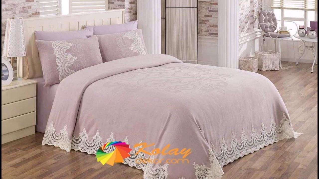 Dantel yatak örtüsü modelleri 2018