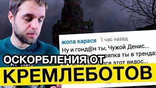 Оскорбления от кремлеботов   Денис Чужой