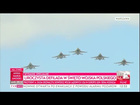 TVP - Poland Armed Forces Day Parade 2017 : Full Air Force Assets Segment [720p]