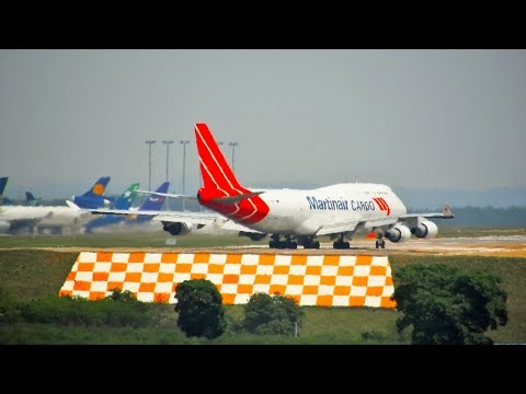 MARTINAIR 747-400F na Decolagem em Campinas Viracopos