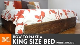King size bed (with storage) // How-To