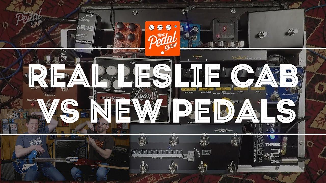 that pedal show real leslie cabinet vs neo ventilator ii ehx lester g strymon lex youtube. Black Bedroom Furniture Sets. Home Design Ideas