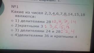 Делители и кратные. Решения задач из сборника по математике для 6 класса Мерзляк. Часть 1.