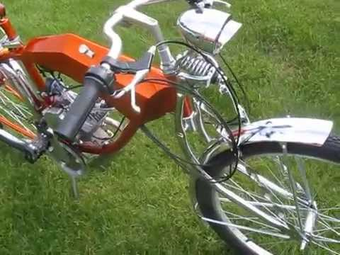 Motorized Lowrider Bicycle Cruiser Clips Youtube
