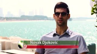 Novak Djokovic Visits Wild Wadi Waterpark and Burj Al Arab