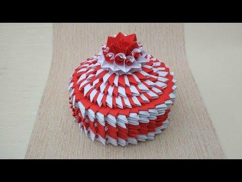 Шкатулка для украшений модульное оригами