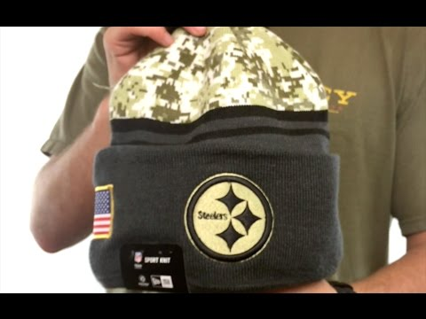 Steelers  2016 SALUTE-TO-SERVICE  Knit Beanie Hat by New Era - YouTube db715f66b6d8