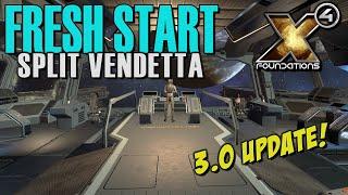 Gambar cover MASSIVE 3.0 UPDATE! FRESH START - Split Vendetta Gameplay - X4: Foundations Part 1