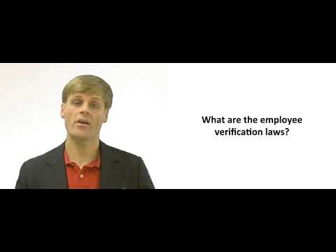 Employment Verification Laws ( IRCA)