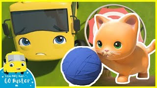 Baby Kitten Rescue - Buster's Fire Truck Friend | Go Buster | Kids Videos | ABCs and 123s | Single