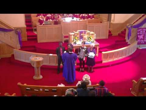 Godwin Ogunyanwo Baptism at Court Street United Methodist Church in Flint, MI