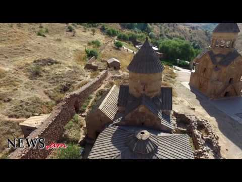 Noravank Monastery in Armenia: Shoted from drone
