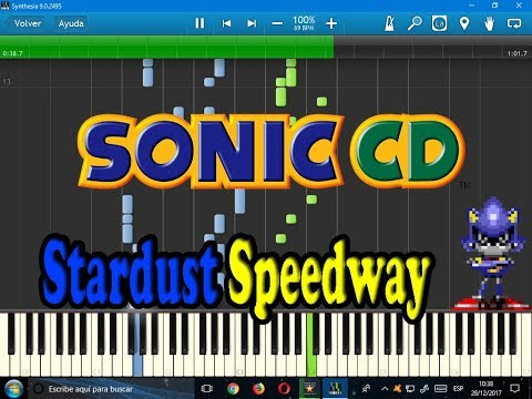Stardust Speedway -Bad Future- (Sonic CD)-Synthesia-VideoGames Sheet Music