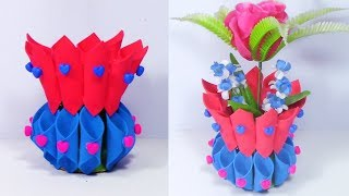 DIY Plastic Bottle Art and Craft Idea | Best out of Waste Ideas | Foam Sheet Crafts Idea
