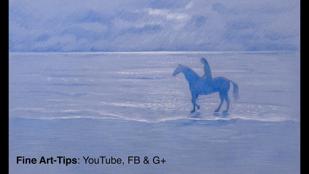 How To Draw A Horse On The Beach  Fine Art Tips