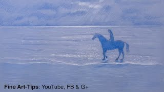 How to Draw a Horse on the Beach - Fine Art- Tips.