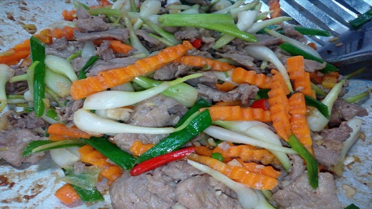 Hướng dẫn làm món thịt bò xào cùng củ kiệu tươi thơm ngon lạ miệng/ By Cooking DT