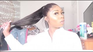 HOW TO FRONTAL EXTENDED PONYTAIL