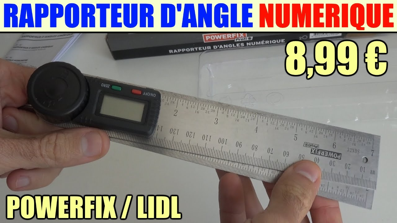 rapporteur d 39 angles numerique powerfix lidl youtube. Black Bedroom Furniture Sets. Home Design Ideas