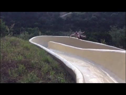 Man Miraculously Survives Falling Off Water Slide and Down Rocky Cliff