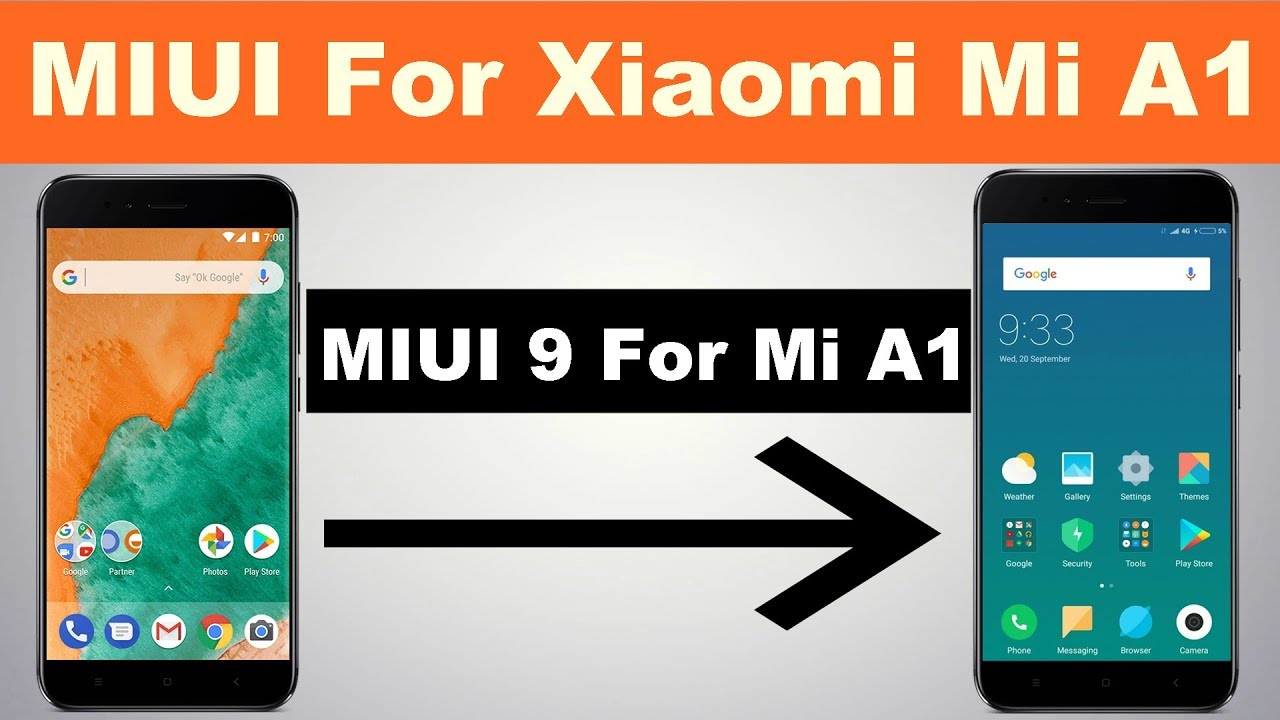 MIUI 9 For Xiaomi Mi A1 || Device How To Install MIUI 8 1 In Mi A1