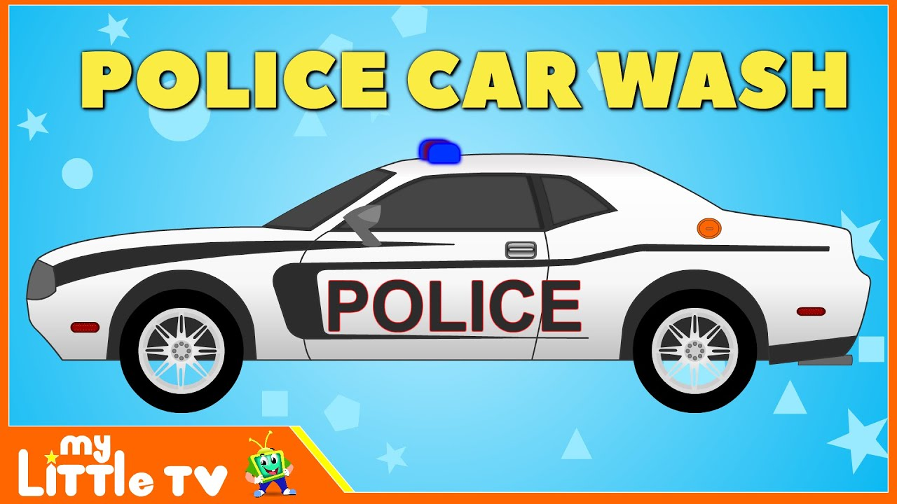 police car wash police chase videos for children my little tv youtube