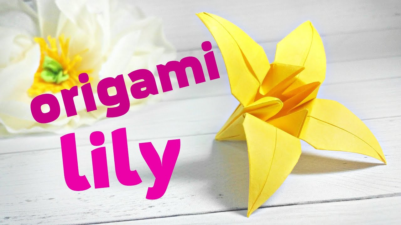 easy modular origami lily for childrenkids origami lily