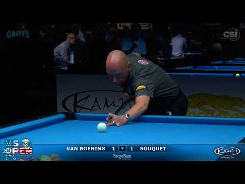 2017 US Open 10-Ball: Van Boeing vs Souquet