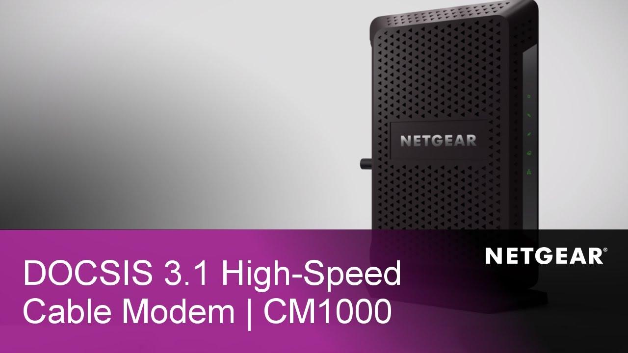 NETGEAR CM1000 Ultra High-Speed DOCSIS 3 1 Gigabit Cable Modem