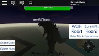 Roblox GMA: Legendary Godzilla test run