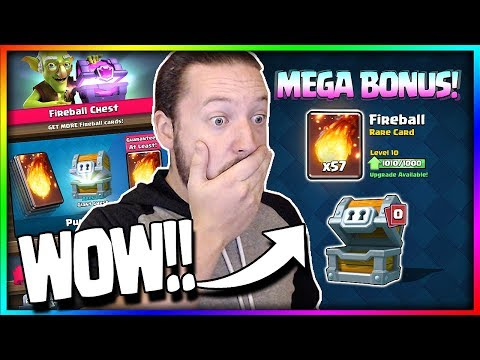 NEW CHEST!? Mega Bonus Special Offer = Max Card!! Insane Win Streak Ladder Pushing - Clash Royale