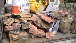 Chard, Somerset, England. Builders Construction Demolition Rubble Rubbish Waste Clearance.