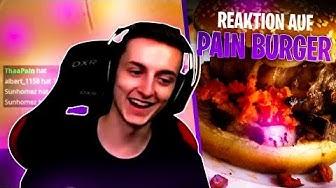 PAIN reagiert auf seinen ersten eigenen Burger 😱