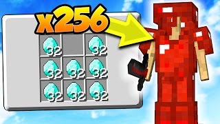 INSANE x256 DIAMOND GOD SET! | Minecraft MONEY WARS