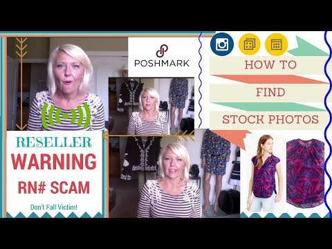 How To Find STOCK PHOTOS for Reselling on Poshmark & !! WARNING RN SCAM !!