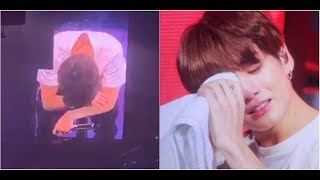 BTS' Jungkook breaks down in tears at London concert while talking about his injury