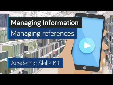 ASK Online Learning Resources 3.4: Managing Information - Managing references