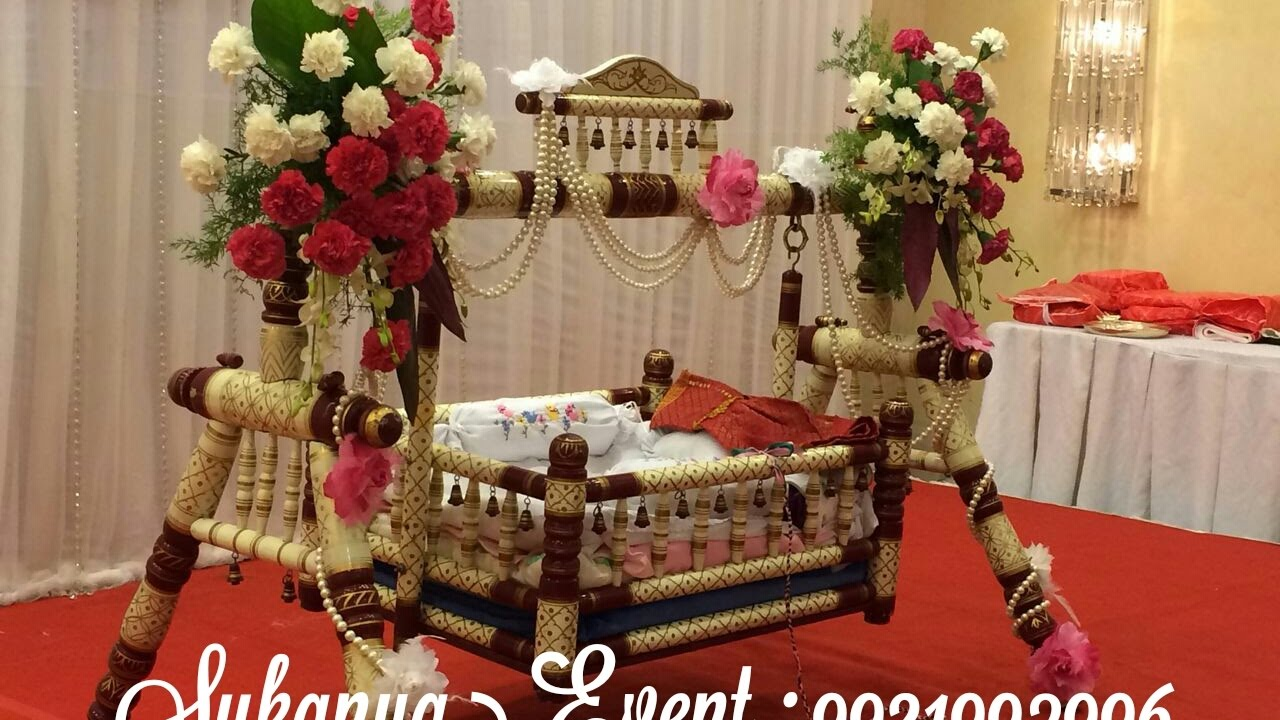 Naming ceremony decoration by sukanya events call for Baby name decoration