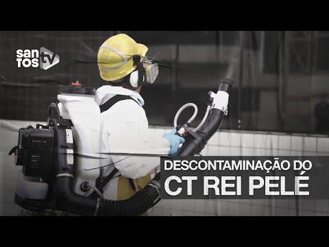 #SANTOS FC REALIZA DESCONTAMINAÇÃO DO CT REI PELÉ