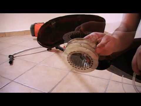 Reloading/Replacing line head and changing cutting tools on the Husqvarna  545Rx brushcutter