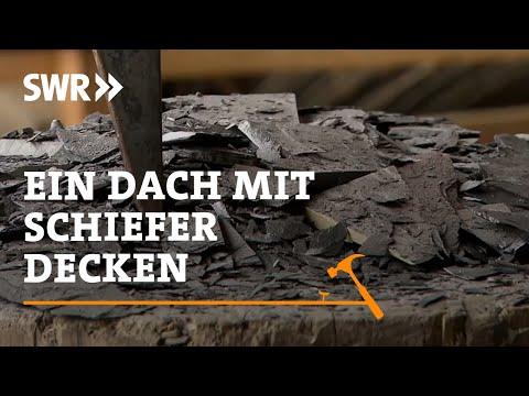 Handwerkskunst! Wie man ein Dach mit Schiefer deckt | SWR Fernsehen