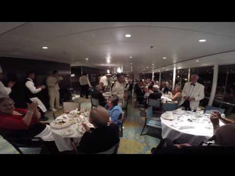 Balmoral Cruise Ship Baked Alaska Parade (Canary Islands Cruise Oct 2016)