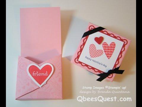 Stampin Up Tutorial Valentine Treat BoxYouTube