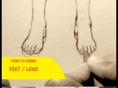 How To Draw Feet, 3 Ways (Simple)