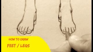 How To Draw Feet 3 Ways Simple