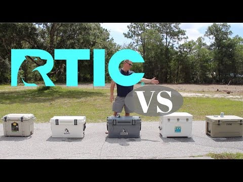 RTIC Cooler Review 65 Qt Ice Test Comparison Vs OtterBox, Kong & Techni Ice