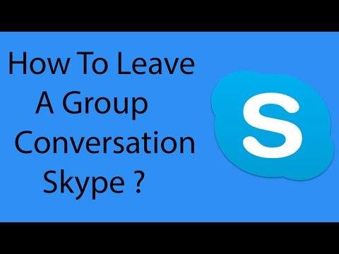 How To Leave A Group Chat On Skype -2016 ?
